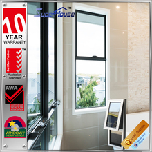 Australia standard as2047 australian type double glazed aluminum awning window