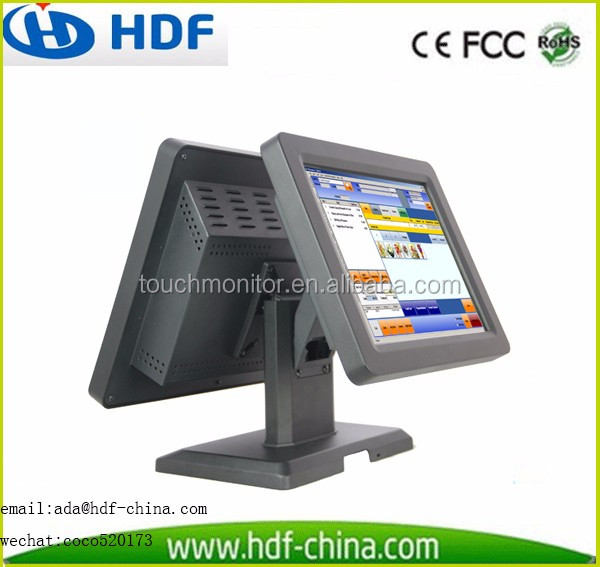 Facotry price 15 inch touch POS system available for embedded windows 7 or linux