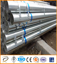 Tianjin Good quality BS 1387 galvanized steel round pipe / GI tube / hot dipped galvanized steel pipe