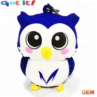 OEM custom PU foam squishies animal slow rising pack kawaii mini cate owl toys for kids