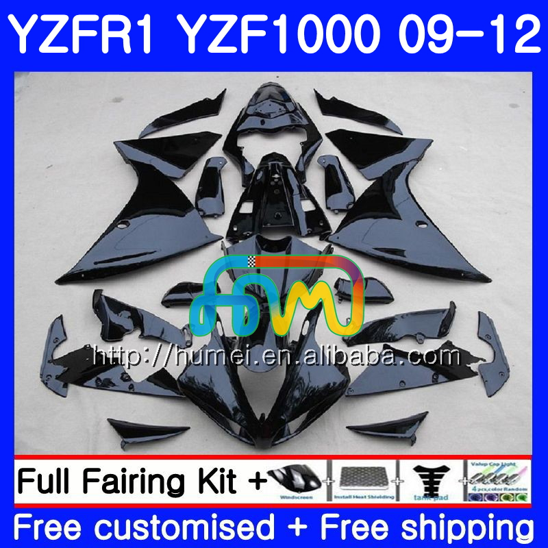 glossy black Body For YAMAHA YZF-<strong>R1</strong> YZF-1000 YZF <strong>R1</strong> <strong>09</strong> 10 11 12 104HM56 YZF1000 R 1 YZF 1000 YZFR1 2009 2010 2011 2012 Fairing