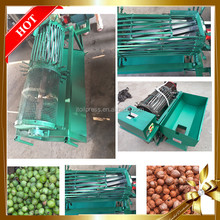 India low price hot sale factory widely used green pecan shelling mini fresh black walnut cracking machine