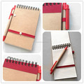 Customize Hardcover Kraft Mini Notepad With Pen,Paper Notebook For Hotel