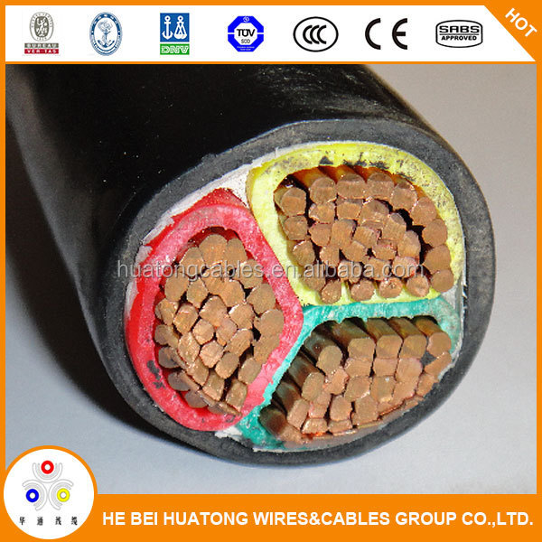 16mm 25mm 35mm 0.6/1kV pvc insulation and sheath 3 core electric flexible cable