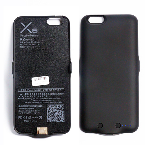 For iPhone 6 External Power bank Case 2200mAh Portable Backup Battery Charging Case