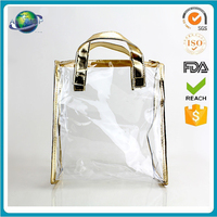 China Supplier wholesale fashion clear pvc plastic cheap ladies handbags