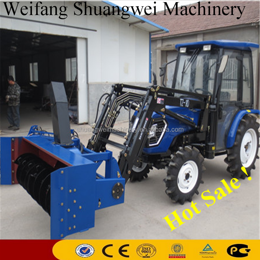 Agricultural Farm Tractor/Hoflader with Snow Blower for Sale