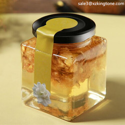 promotional glass jars jam Simple glass jar cork lid Elegant glass jars jam