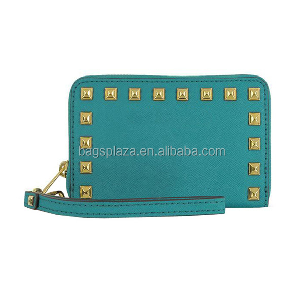 Fashion Ladies Clutch handbag Rivet Purse Women Designer Wallet WA8035