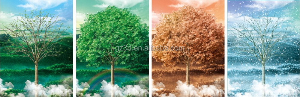 Classical art lenticular wall hanging moving 3d pictures of beautiful natural scenery