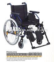 Ward Nursing Equipments Aluminum manual wheelchair/folding handicapped wheelchair/CE FDA approved