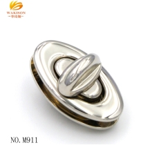 Oval Twist Bag Turn Accessories Buckle Hardware Metal Lock For Bag