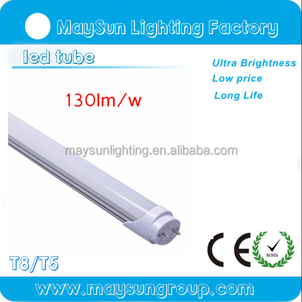 UL and DLC listed 4ft single pin or G13 or R17D base 180 degree rotatable china t8 led light tube with 3 years warrantybe