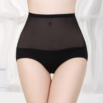 Sexy transparent panty high waist panty blank underwear