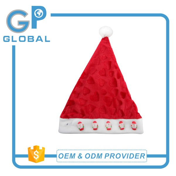 Cheap promotional custom christmas hats for christmas decoration
