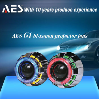 AUTO headlight AES G1 Double angel eye Automobile&motorcycle hid xenon projector lens