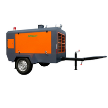 Mobile diesel motor driven screw air compressor supplier