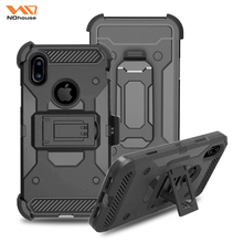 NDhouse Rugged rotating stand case for iphone x