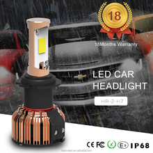 High lumen led car light h7 for all cars headlightand fog light with 8000 lumen 9~32v DC