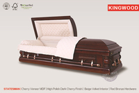 STATESMAN caskets mdf wood veneer funeral flat pack christian coffin