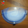 E27 half moon glass wall light