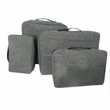 Customized compression packing cubes 4pcs set for travel storage