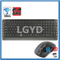 2.4GHz Wireless Multi-media Silent Game Keyboard with Optical Game Mouse Kit
