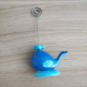 New Arrival Wedding Party Favors Blue Whale Place Card Holder
