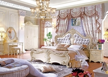 Guangdong French style wedding fancy bedroom furniture