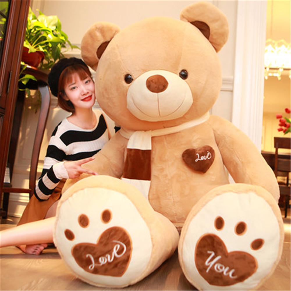 Fancytrader Huge Giant Love Teddy Bears Plush Toys Gifts for Girls Soft Big Stuffed Bears Doll Christmas New Year Valentine's Day Gifts 2