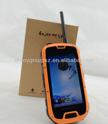 IP68 4.3inch Android phone 4.2 Quad core smart phone with GPS/PTT S09