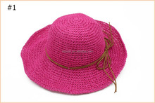 Women Folding Elegant Bowknot Floppy Straw Sun Derby Beach Hat