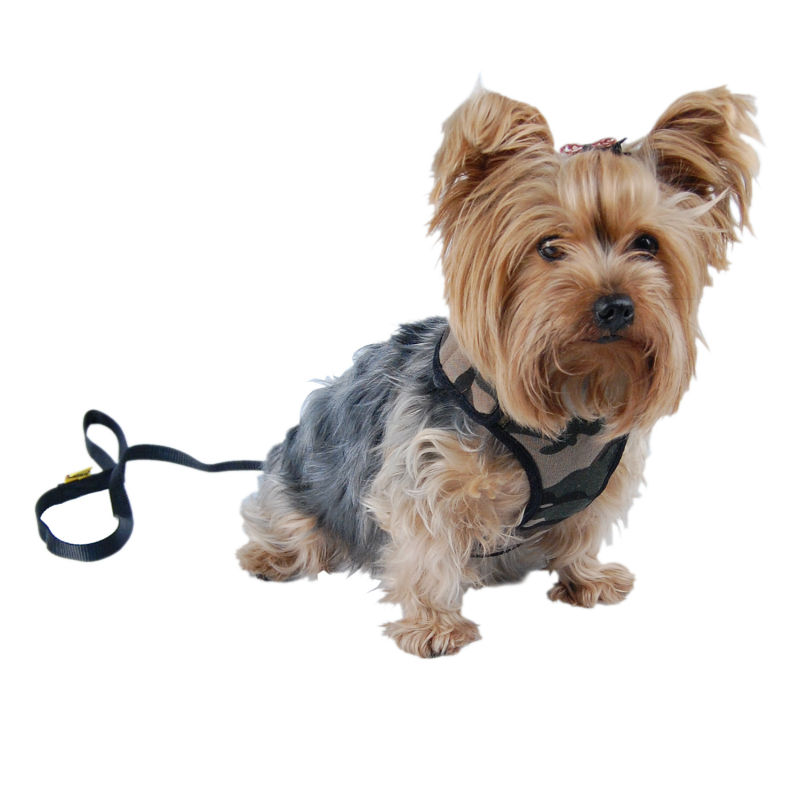 Pet Camo Canvas harness with leash Dog soft leash