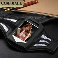 Leather Sports Armband case phone pouch for iphone 4 4s