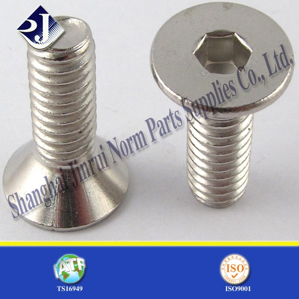 made in china din standard flat head allen machine screw bolt m10 m8