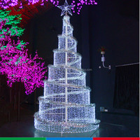 Holiday and Wedding Decorative Lighting fiber-optical christmas tree with decorations