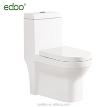 EDOO exclusive design S-trap 225mm/250mm 4 inch washdown one piece toilet with built-in bidet sanitary ware