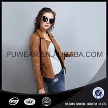 Excellent Quality Hot Sale Attractive Fancy Lady Leather Jacket