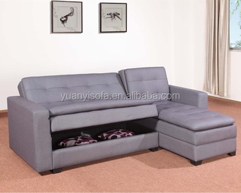 YB2202 New Design Living Room Furniture Multi Function fabric Sofa Bed with storage