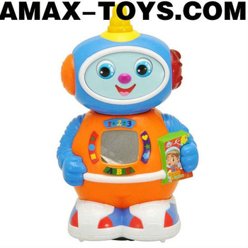 bte-569506 music robot Kids intelligent cartoon music toys robot with flashing lights
