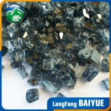 China famous brand gold reflective crushed fire glass