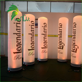 Advertising Outdoor Display Inflatable LED Totem / Factory Price Lighting Inflatable LED Column Balloon