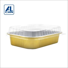 ALCHN 1000ML Mircrowaving Aluminium Foil Tray For Food Packaging&Storage Container With Lids