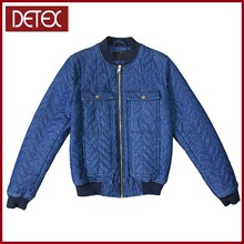 Wholesale Quilted Women Custom Denim Bomber Jacket