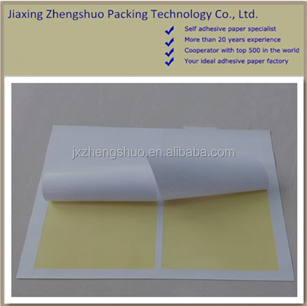 Slit back self adhesive paper with BV certification