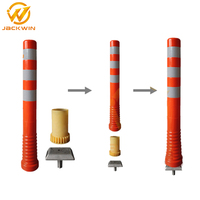 Removable Flexible Plastic PU Road Bollard for Road Safety