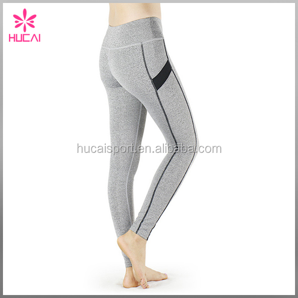 Plain Breathable Yoga Tights Custom Jogger Pants Slim Leggings For Women