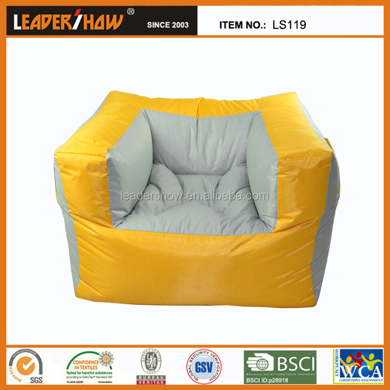 Large outdoor waterproof bean bag chair massage bean bag with washable cover 100cm x80cmx65cm