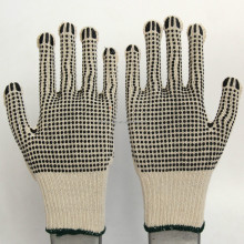hot sell !! hand working cotton PVC dot gloves supplier