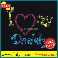 I love my Daddy bling iron on transfer hot fix rhinestone motif
